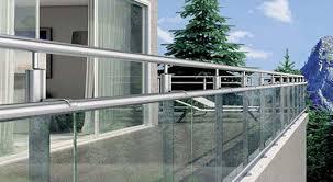 edelstahl balkon mit glas absturzsicherung für balkon balkongelaender mit glas handlauf