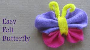 how to make felt butterfly fun craft ideas youtube