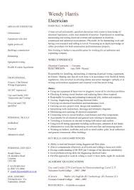 Sample Resume For Iti Electrician by Industrial Electrician Resume Template