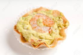 made canap avocado and shrimp volauvent volauvent is a tiny canap