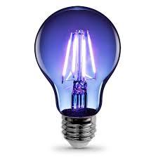 What Is A Led Light Bulb by Feit Electric 3 6 Watt Blue A19 Filament Led Light Bulb A19 Tb Led