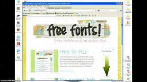how to download and install fonts using windows xp youtube