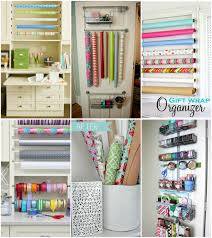 wrapping station ideas wall mounted gift wrap organizer home decorating interior