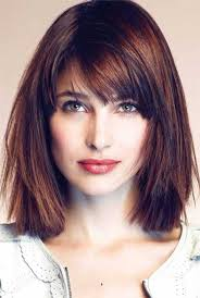 lob hairstyles with bangs lob haircut with bangs 4k wallpapers