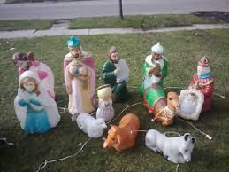 Outdoor Christmas Ornaments Lighted by 4 Nativity Lawn Decorations Merry Christmas