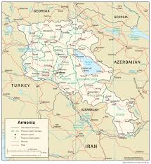 Ar Map Armenia Maps Perry Castañeda Map Collection Ut Library Online