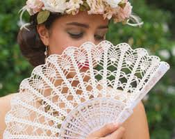 held fans lace fan gold held fan bouquet alternative