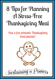 8 tips for planning a stress free thanksgiving meal a