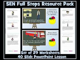 full stops and capital letters for sen students powerpoint lesson