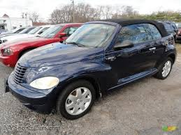 2005 chrysler pt cruiser touring convertible in midnight blue