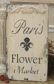 french shabby chic decor flower market chipped romantic