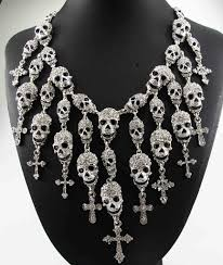fashion skull necklace images Gorgeous fashion skull cross necklace skulldiscounts jpg