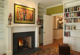 Fireplace Mantels With Bookcases Fireplace Mantels And Surrounds Family Room Traditional With Beige