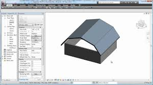 Gambrel Style Roof Cadclip Revit 2011 Roof Basics 05 Gambrel Youtube