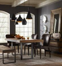 wood and metal dining table sets furniture modern ideas for dining room decoration with black on