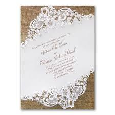 thanksgiving ceremony invitation rustic battenburg lace invitation u003e wedding invitations carlson