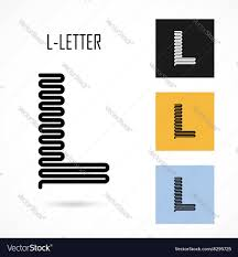 letter l geometric royalty free vector image vectorstock