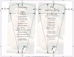 Fan Wedding Program Template Accucut Craft Blog How Cool New Fan Program Die