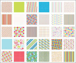 ideas for scrapbooking with patterned paper dots and stripes