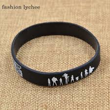 silicone rubber wristband bracelet images Fashion lychee japan anime cartoon figure printed silicone rubber jpg