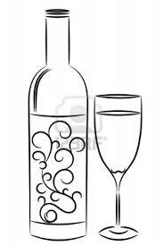 Wine Bottle Outline Clipart 2038423
