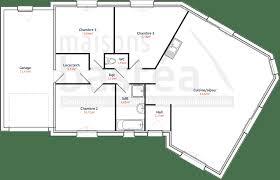 plan de maison en v plain pied 4 chambres plan de maison en v maison design design de maison
