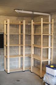 Wood Shelving Designs Garage by How To Build Inexpensive Basement Storage Shelves One Project