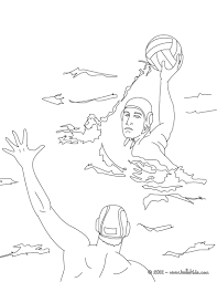 water polo sport coloring pages hellokids com