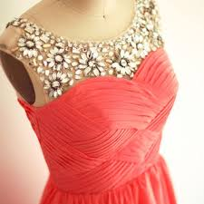 coral and gold bridesmaid dresses strapless chagne from misdress on etsy prom