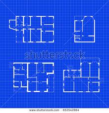 floor plans blueprints architectural set floor plans blueprints vector stock vector