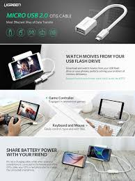 format flashdisk untuk otg amazon com ugreen micro usb to usb micro usb 2 0 otg cable 2 pack