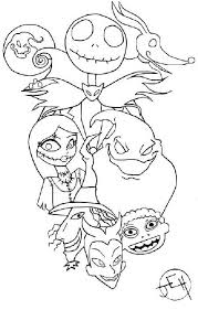 disney nightmare christmas coloring pages print disney