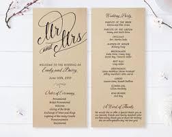 cheap wedding programs printed cheap wedding programs printed on white premium paper