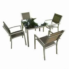 Stackable Sling Patio Chairs Taiwan Aluminum Patio Furniture Cable Stackable Sling Chair