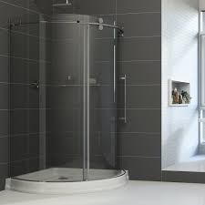 vigo sanibel 40 x 40 in frameless round sliding shower enclosure