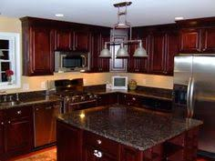Kitchen Design Cherry Cabinets by My Dream Kitchen Black Granite Countertops With Cherry Wood