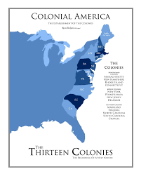 the thirteen colonies map colonies america and the thirteen colonies