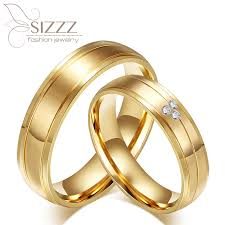 popular cheap gold rings for men buy cheap cheap western mens and womens cz diamonds titanium his and hers