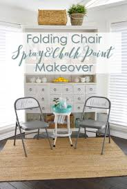 How To Paint Wooden Chairs by Spray And Chalk Paint Folding Chair Makeover Fox Hollow Cottage