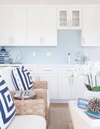 living room bar with blue backsplash cottage living room