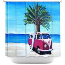 Surfer Shower Curtain Beach Shower Curtains Bathroom Bed U0026 Bath Dianoche Designs