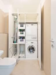 waschmaschine in küche waschmaschine und wäschetrockner im einbauschrank übereinander