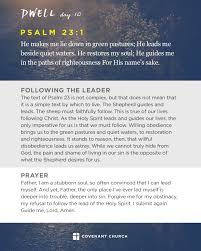 lord guide me dwell psalm 23 covenant church