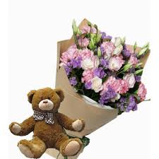 birthday bears delivered cheap teddy gift with bouquet delivery online in