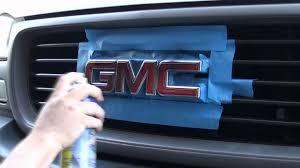 plasti dip gmc truck emblem youtube