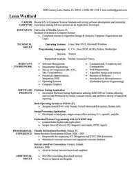 Resume For Computer Science Graduate Sample Resume For Fresher Software Engineer Resume Objective For