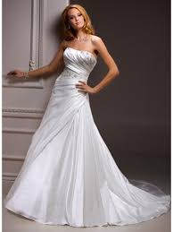 white wedding dresses made cheap a line court white satin wedding dresses 801123
