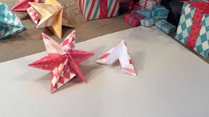how to make a christmas star origami activity youtube