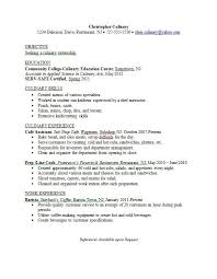 culinary resume templates culinary arts resume best resume collection