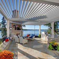Motorized Pergola Cover by American Louvered Roof Systems Kuert